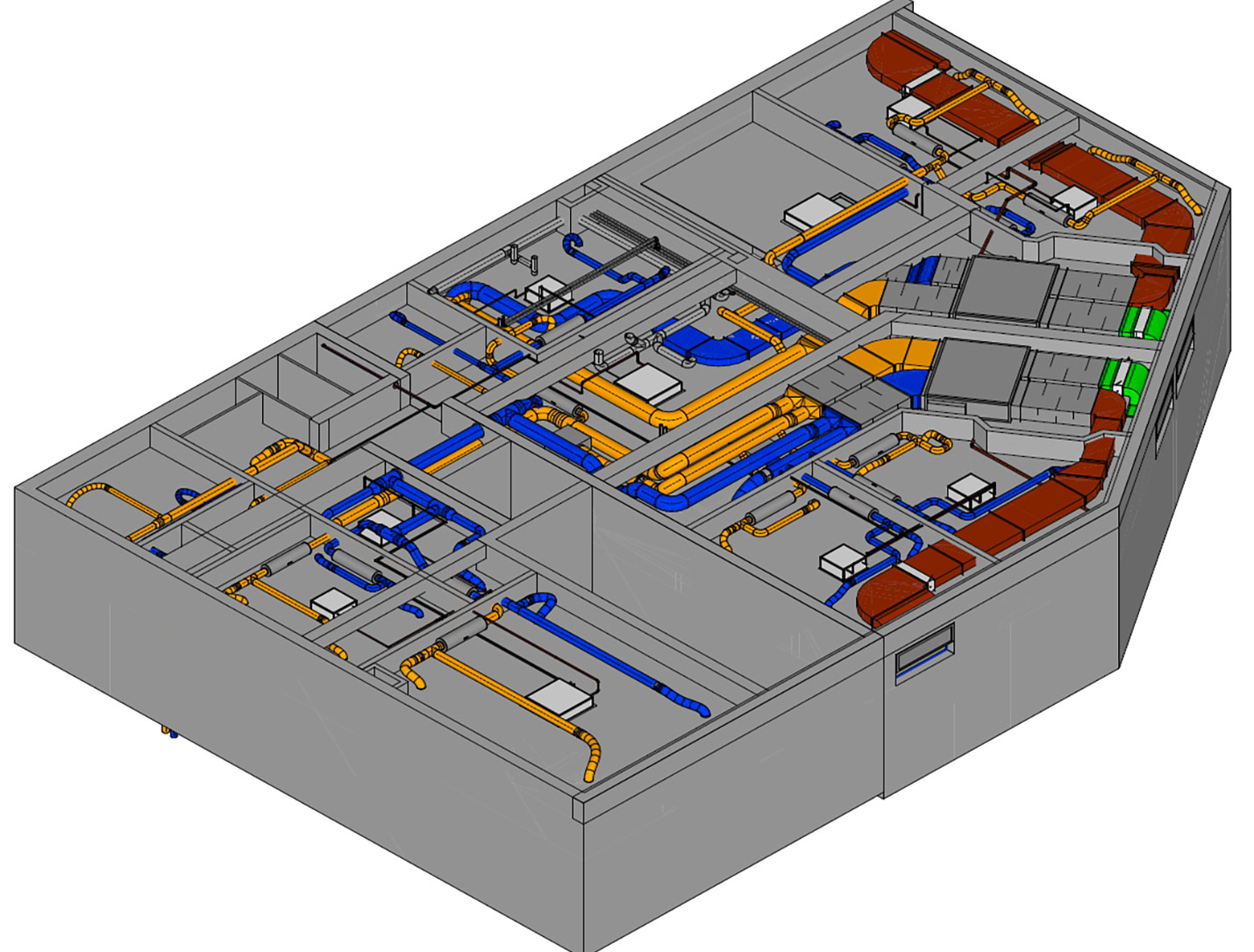 3D-Modell eines Systemplans